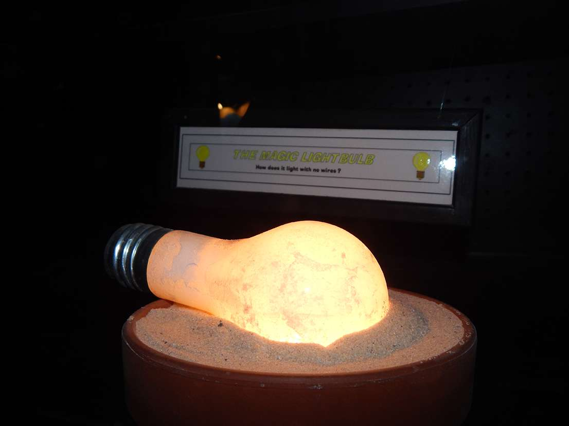Lightbulb at Hall of Mystery