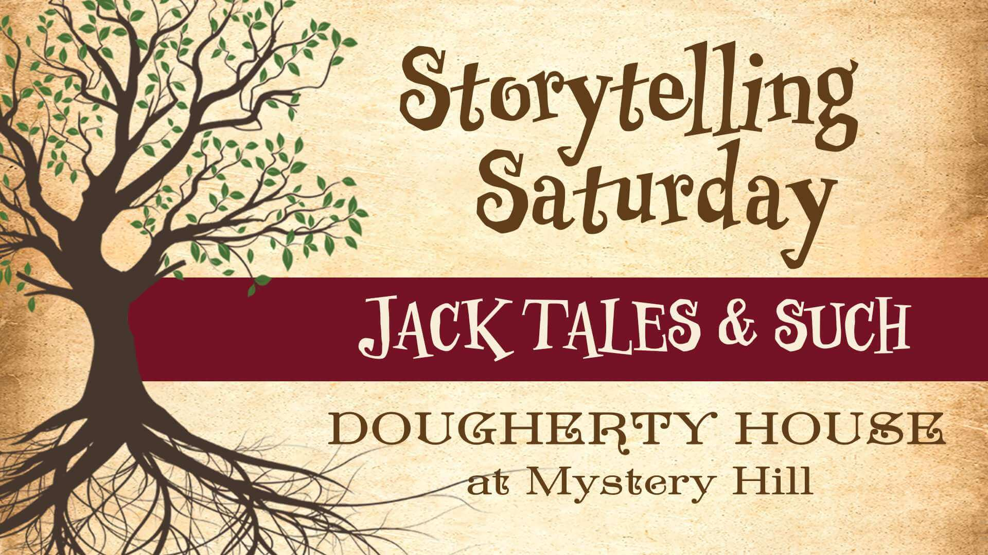 storytelling saturday at mystery hill